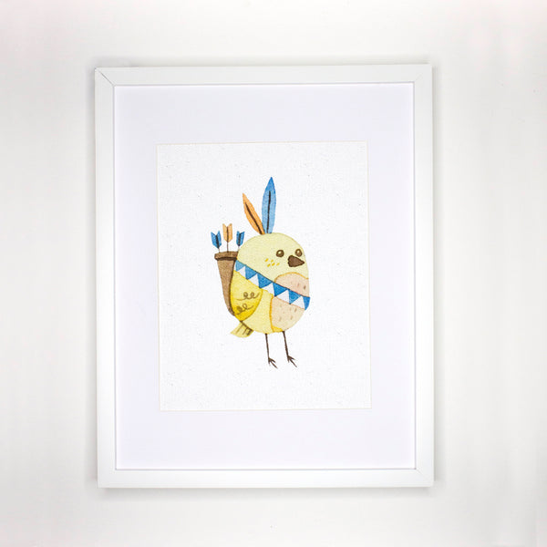Boho Yellow Bird Print Nursery Decor - The Rollie Pollie