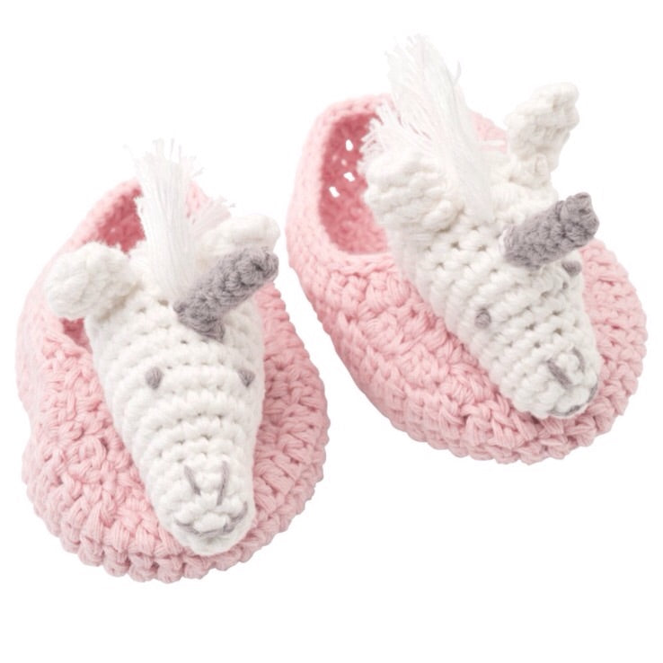 Pink unicorn booties - The Rollie Pollie