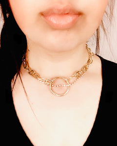 Circle Bling Chain Necklace