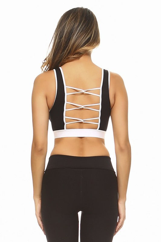 Caged Back Sports Bra
