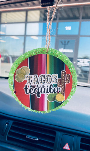 Tacos And Tequila Car Freshie (PRE ORDER 5 to 7 business days)