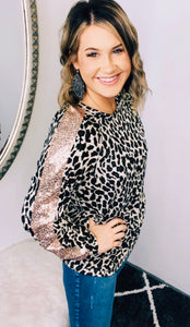 Glitzy Glam Leopard Long Sleeve
