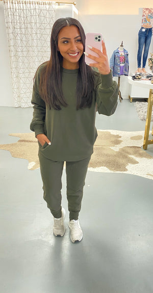 Sweat Set - Olive