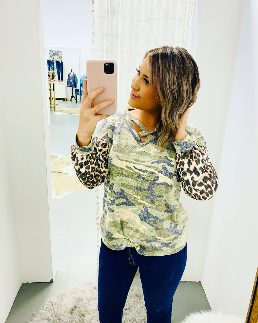 Camo Leopard Long Sleeve