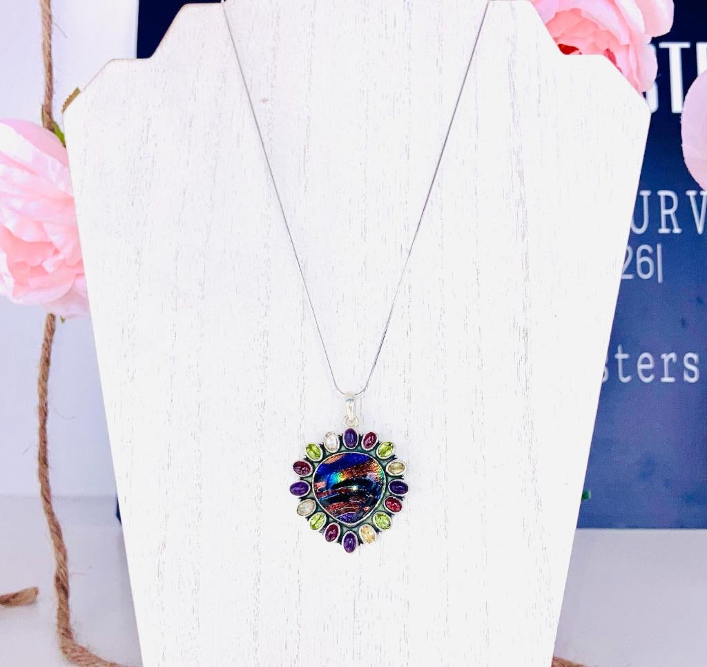 Dichroic Electric Necklace