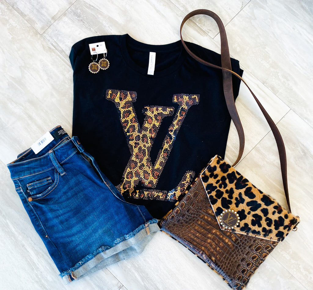 Limited Edition Bling LV Tee (PRE ORDER 7 to 10 business days)
