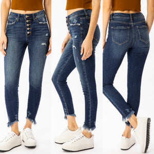 KanCan high rise buttonfly jeans