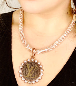 LV Rose Gold Queen Necklace