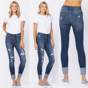Coastal Button Fly Judy Blue Jeans