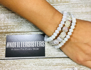 New You 3 piece bracelet stack