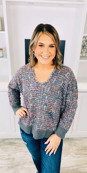 Multi Glam Knit Sweater