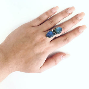 Labradorite Queen Sterling Ring-Size 7