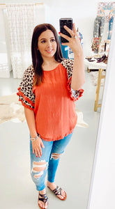 Leopard In Love Umgee Blouse
