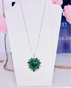 Candy Apple Green Heart Necklace