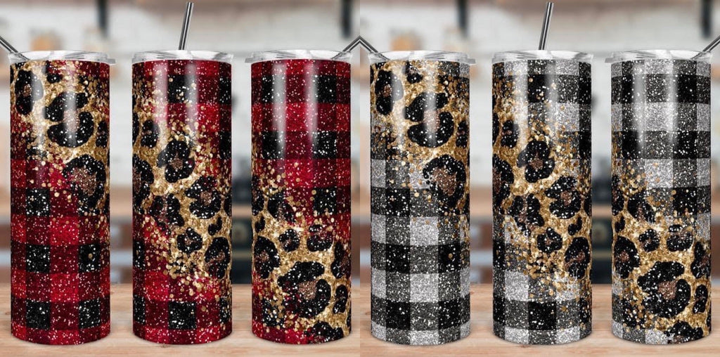 Buffalo Plaid & Cheetah Skinny Tumbler