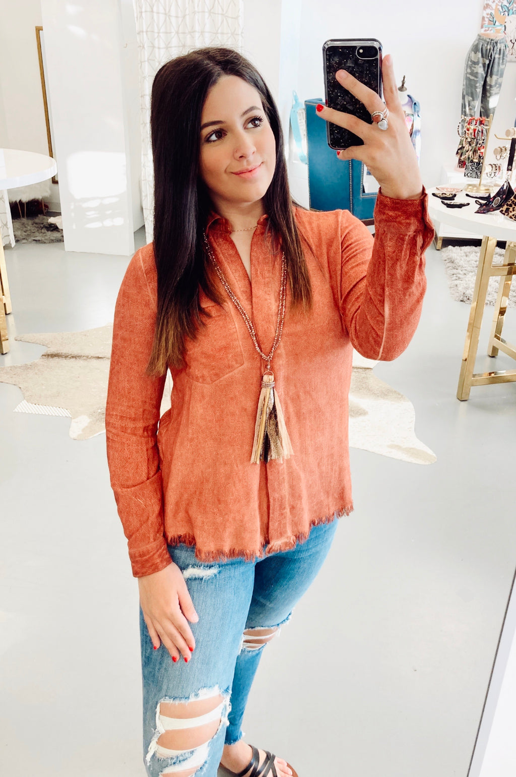 Pumpkin Spiced Up Umgee Blouse