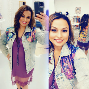 Mermaid Sequin Denim Jacket