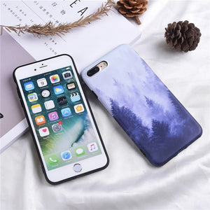 Landscape scenery painted case for iPhone