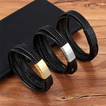 Classy Leather Men Bracelet
