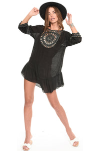Muche et Muchette Crochet Cover Up Dress, - Funky Collective