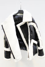 Shearling Moto Puffer, - Funky Collective