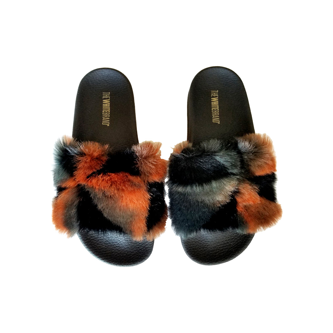 Faux Fur Slides, - Funky Collective