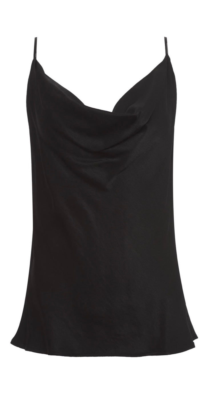 Goldhawk Black Haley Cowl Neck Cami, - Funky Collective