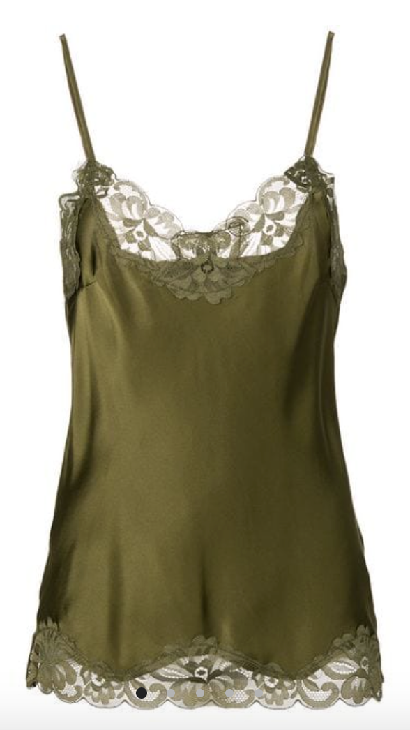 Gold Hawk Floral Lace Silk Cami, - Funky Collective