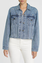 Pistola Naya Crop Star Boyfriend Denim Jacket, - Funky Collective