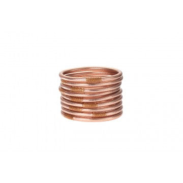 BUDHAGIRL All Weather Bangles - Rose Gold, - Funky Collective