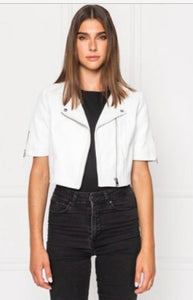 Kirsi Leather Biker Jacket, - Funky Collective