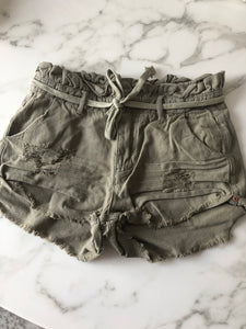 Olive Green Shorts, - Funky Collective