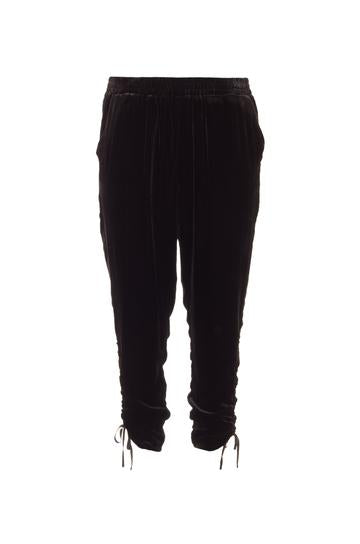 Velvet Ruched Pull on Pants, - Funky Collective