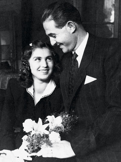 Dr. Edith and Bella on their wedding day, 1946.
