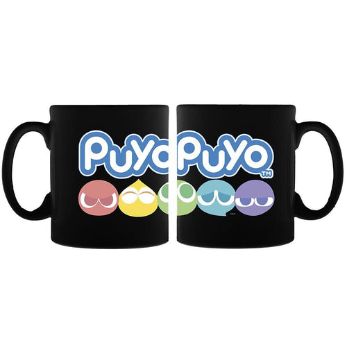 Puyo Puyo Color Logo Black Mug