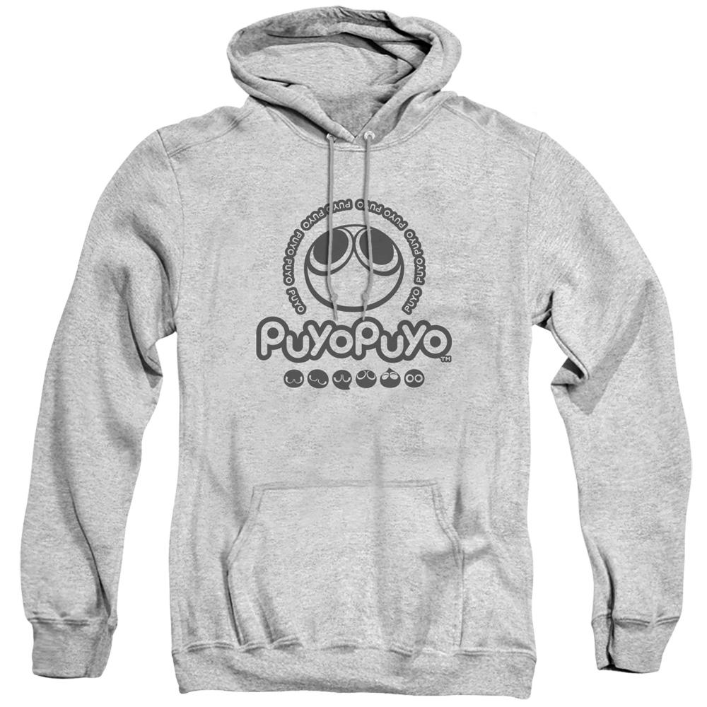 Puyo Puyo Logo Heather Grey Hoodie