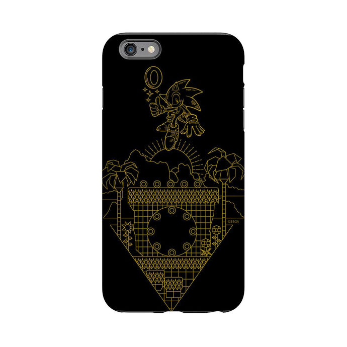 Sonic The Hedgehog Gold Line Art Phone Case