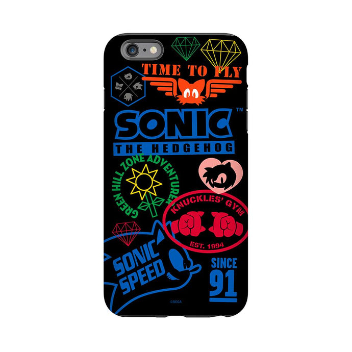 Sonic The Hedgehog Patchwork Phone Case