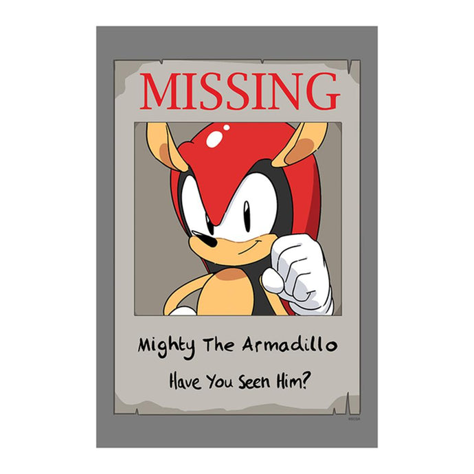 Exclusive Sonic Mania Adventures Missing Mighty Poster