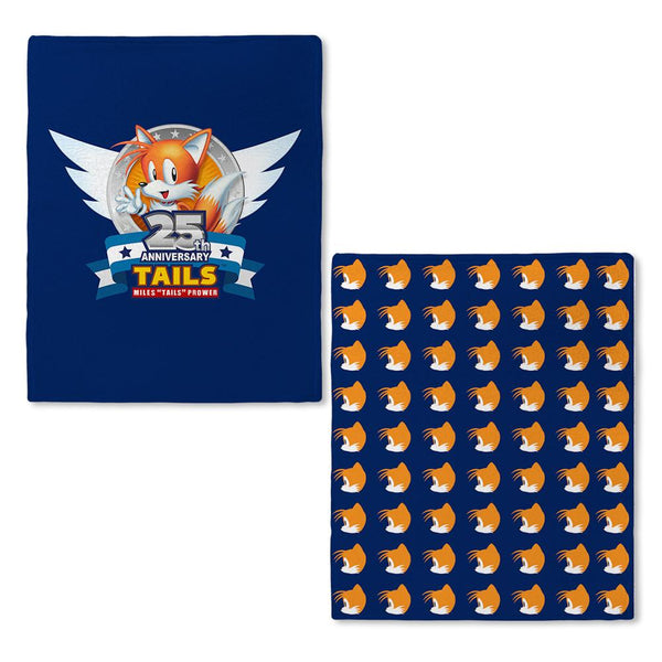 Sonic Tails 25th Anniversary Fleece Blanket