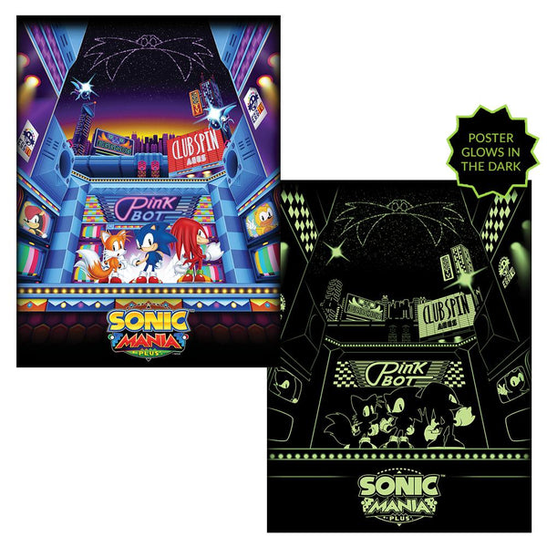 Sonic Mania Plus Glow in the Dark Poster