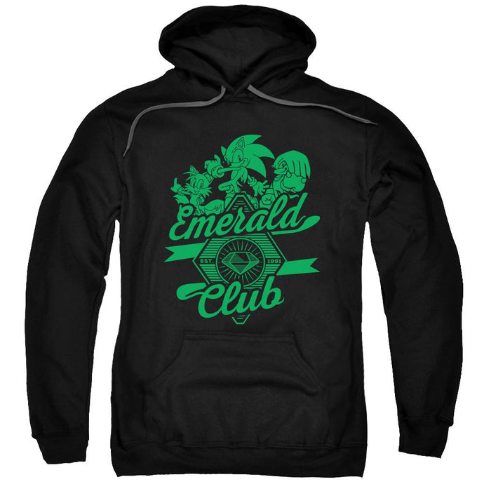 Sonic Patchwork Emerald Club Black Hoodie