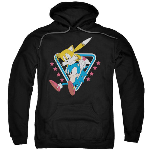 Sonic and Tails Fly Black Hoodie