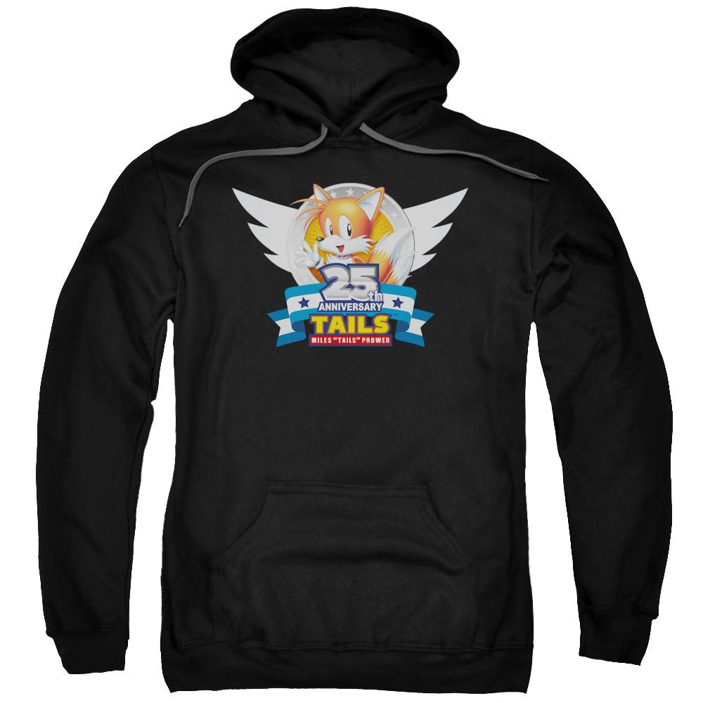 Sonic Tails 25th Anniversary Black Hoodie