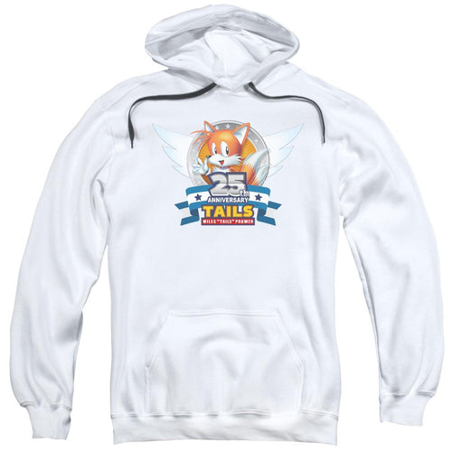 Sonic Tails 25th Anniversary White Hoodie