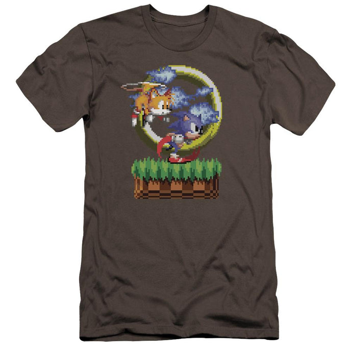 Sonic and Tails Charcoal Pixel T-Shirt