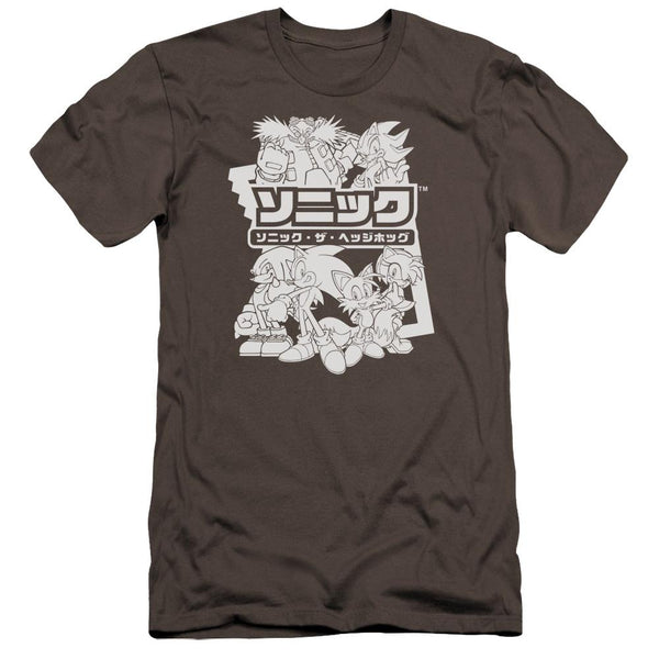 Sonic Black & White Japanese Logo Charcoal T-Shirt