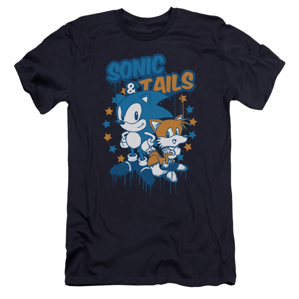 Sonic & Tails Paint Navy T-Shirt