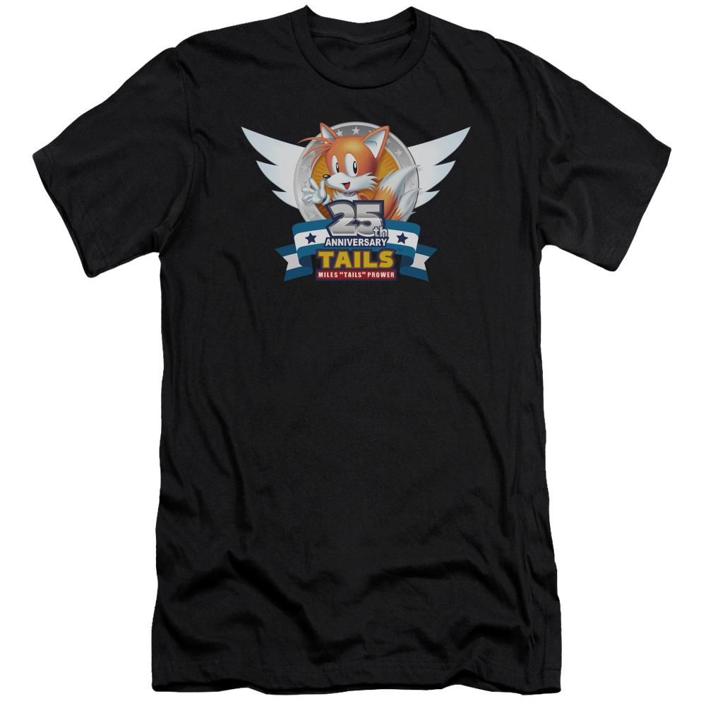 Sonic Tails 25th Anniversary Black Unisex T-Shirt