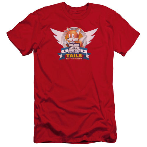 Sonic Tails 25th Anniversary Red Unisex T-Shirt